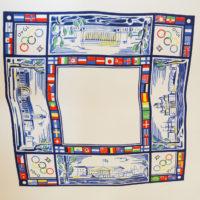 1939г. Платок – косынка сувенирная продукция к 12 олимпийским играм в Хельсинки в 1940г. ( О.И. не состоялись)