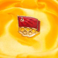 Знак члена олимпийской Сборной команды СССР. Бронза. эмаль. позолота. размер 3 х 3 см